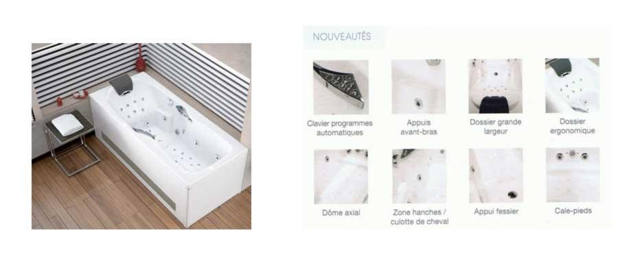 Catalogue 2018 sanitaire baignoire baln o kinedo 180x80 for Catalogue baignoire