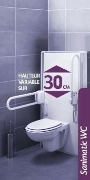 Fiche produit SANIMATIC SUPPORT MOTORISE WC SANILIFE SFA